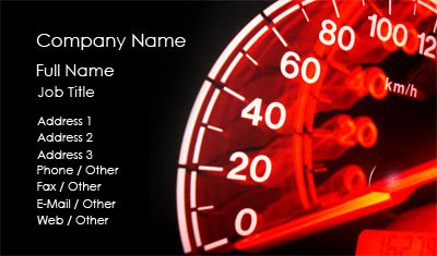 Black and Red Speedometer Business Card Template
